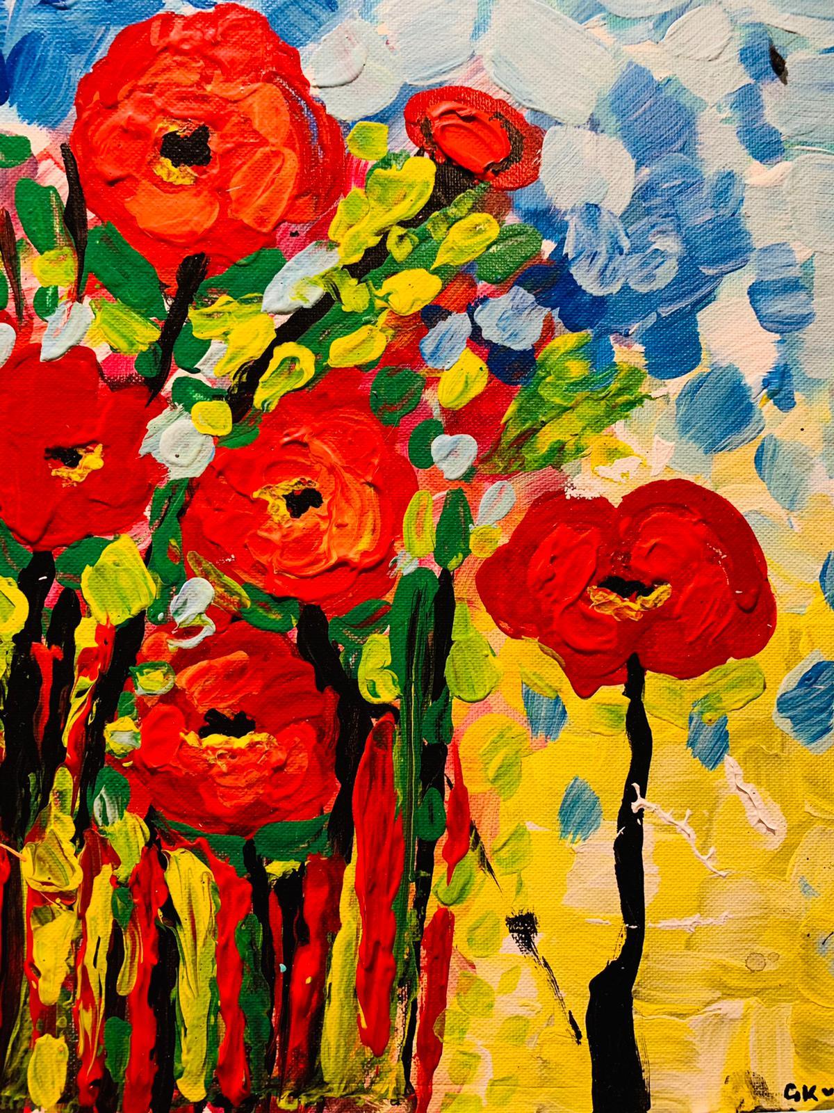 gila flowers acrylic
